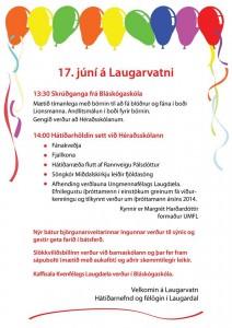17. júni á Laugarvatni